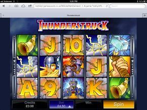 iPad Thunderstruck Slot Machine