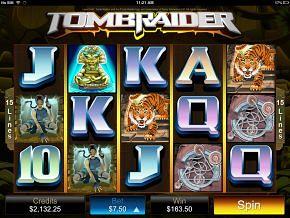 iPhone Tomb Raider Slot Machine