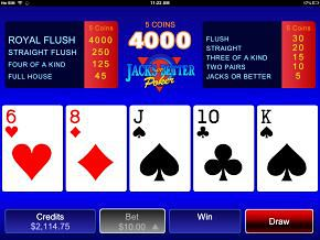 iPhone Video Poker Game