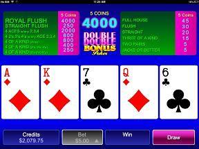Mobile Double Double Bonus Poker