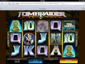 Tomb Raider iPad Slots